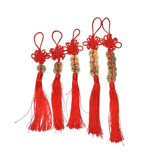 Chinese Brass Emperor Money Coin Tassels