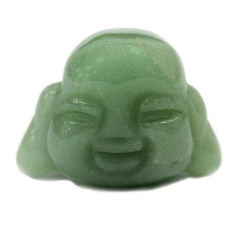 Crystal Buddha Head - Jade - Size 5 x 2 x 3,5 (cm)