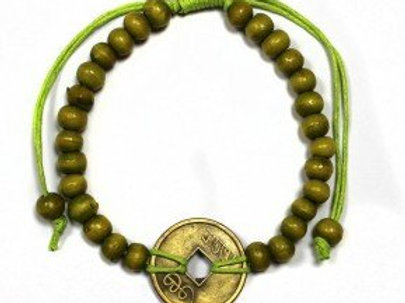 Good Luck Feng Shui Bracelet - Green - Made in Bali