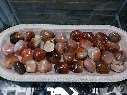 Carnelian Crystals from India - Size approx. 25mm - 30mm