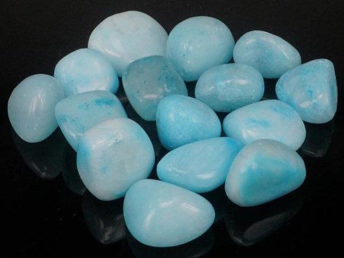 Aragonite (Blue) - Tumble stone (Gemstone) - Size approx. 20mm x25mm