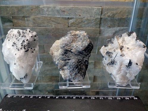 Tourmalinated Quartz Crystal - Size approx. 70mm x 30mm