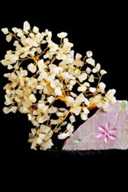 Rose Quartz Crystal Tree - (XLarge) 320 Stones