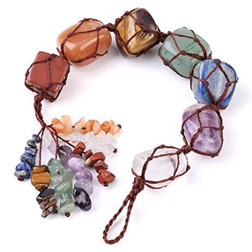 7 Chakra Crystals Hanging Tassel