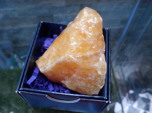 Calcite (Orange) Rough Gemstone - Size 30mm x 50mm (approx.)