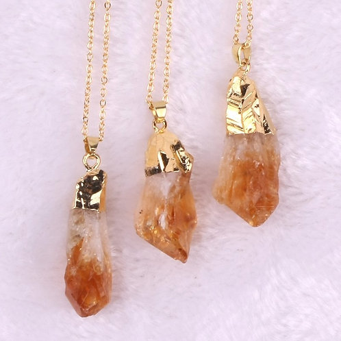 Natural Citrine Pendant with chain