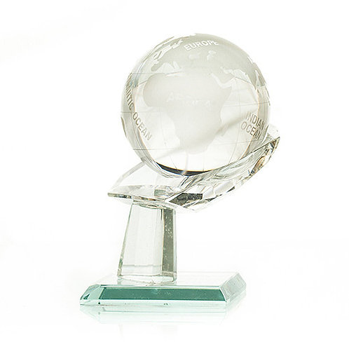 Star Crystal Globe on Stand