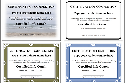 Life Coaching Certificate templates - (Editable)