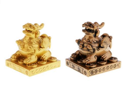 Pi Yao (Pi Xiu) statue / figurine - Gold or Bronze