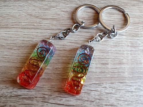 Orgonite Keyring - Rainbow Copper Attractor - Size 5 x 2 x 1 (cm)