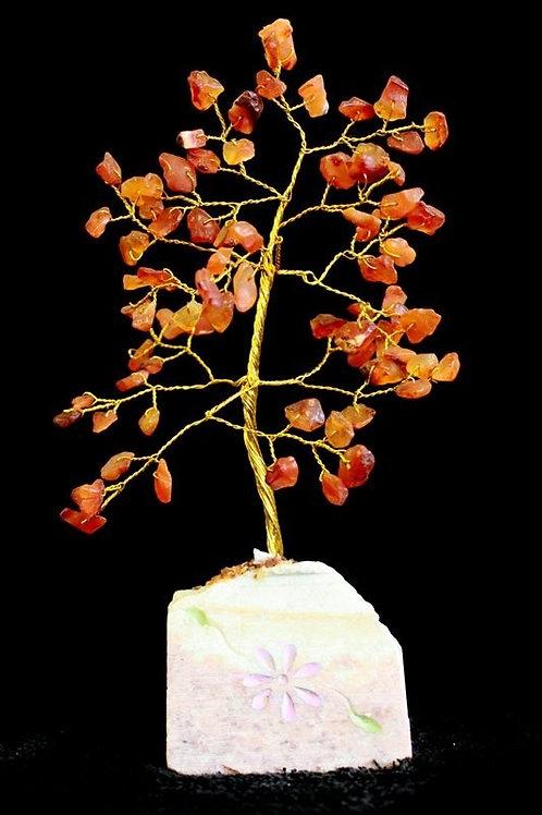 Carnelian Crystal Tree - (Medium) 80 Stones