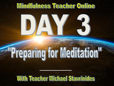 """Preparing for Meditation"" With Teacher Michael Stavrinides."