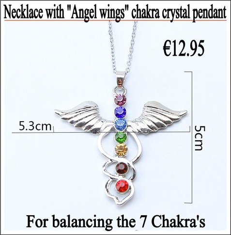 Crystal pendant with chain