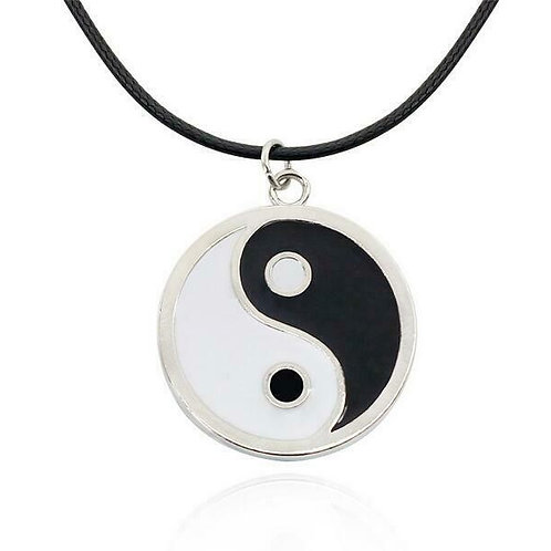 Yin Yang Pendant with leather chain