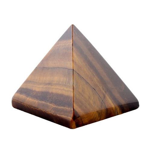 Tiger Eye Crystal Healing Pyramid size 40mm x 40mm x 40mm