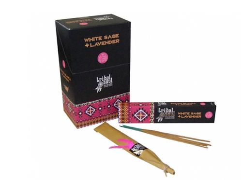 Tribal Soul Incense Sticks - White Sage and Lavender - 15g.