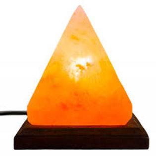 Pyramid Himalayan Crystal Salt Lamp - Large Size 13x13x15cm