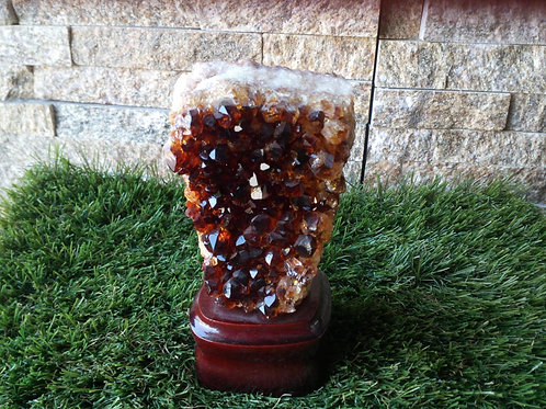 Citrine - Natural Rough Crystal - Extra Large size approx. 11 x 5.5 x 4 (cm)