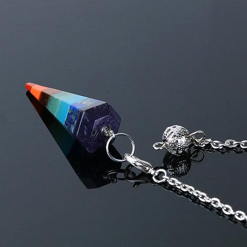 Pendulum - 7 Chakra Crystal - Gemstone