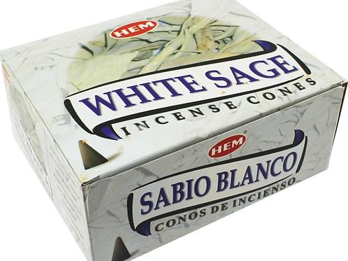 White Sage - HEM Incense Cones - 10 cones