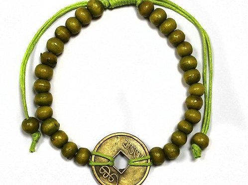 Good Luck Feng Shui Bracelet - Lime Green - Made in Bali