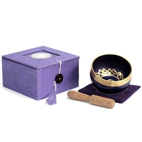 Crown Chakra Singing Bowl Gift Set - Size 8x8x5 (cm)
