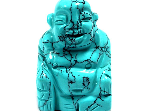 Crystal Buddha statue - Turquoise - Size 3.2 x 2 x 4.5 (cm)
