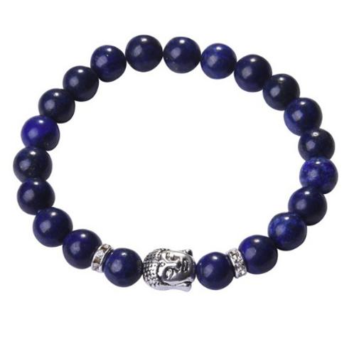 Lapis Lazuli Crystal Buddha bracelet