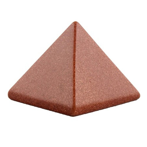 Gold Sand Stone Crystal Pyramid - Size 40mm x 40mm x 40mm