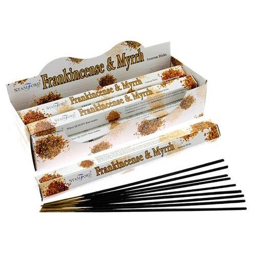 Frankincense and Myrrh Incense Sticks (Stamford) - 20 sticks (approx)