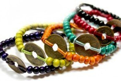 Good Luck Feng Shui Bracelets made in Bali - (6 Colours to choose from)