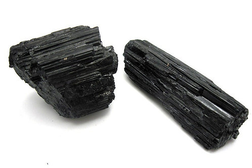 Black Tourmaline - ROUGH (Gemstone) - Size approx. 10mm - 20mm