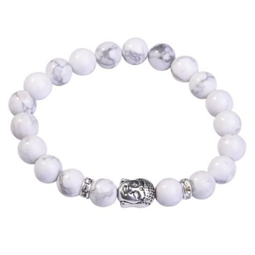 Howlite Crystal Buddha bracelet