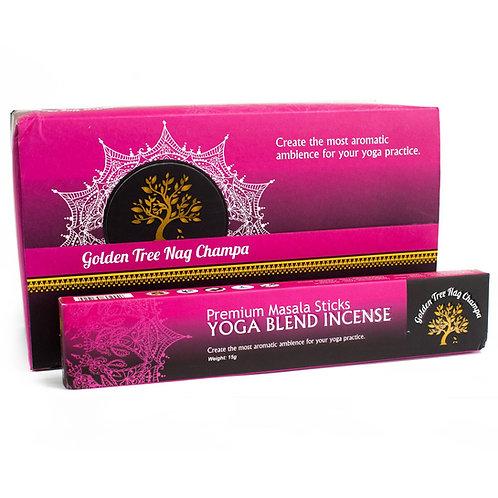 Yoga Blend - Golden Tree Nag Champa Incense sticks - 15gm