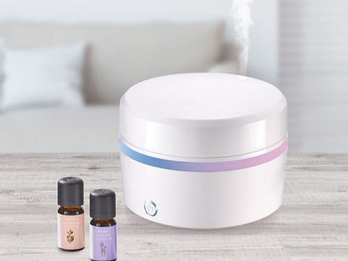 Aroma Diffuser - Includes 2 fragrance aroma oils - Water tank size 120ml