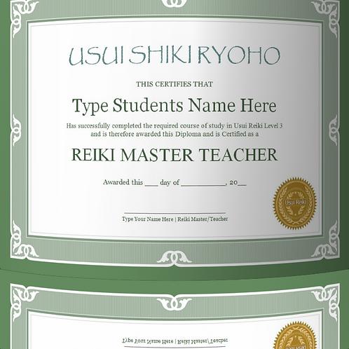 25% OFF - Reiki 3 certificate template