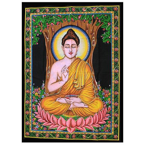 Indian Cotton Wall Art - Buddha (Size 110cm x 80cm)