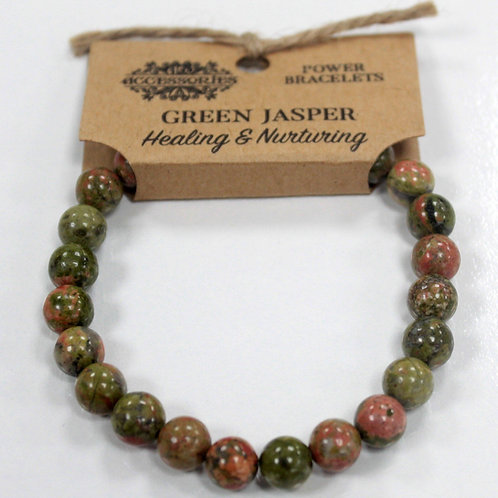 Power Bracelet - Green Jasper For Healing and Nurturing