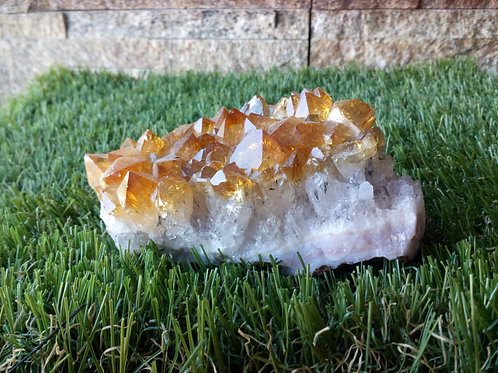 Citrine - Natural Rough Crystal - Extra Large size approx. 3.5 x 9.5 x 4.5 (cm)