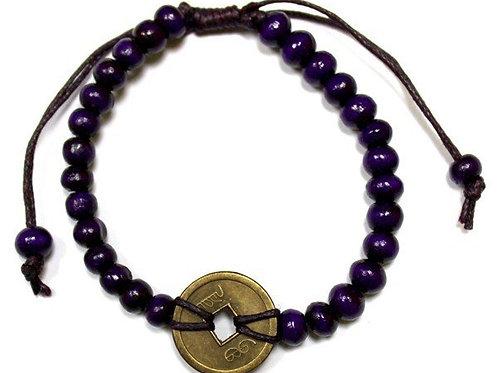 Good Luck Feng Shui Bracelet - Purple - Made in Bali