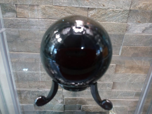 Black Obsidian Sphere with stand - Size 40mm diameter