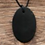 Thumbnail: Shungite Cut Oval Pendant - From Russia