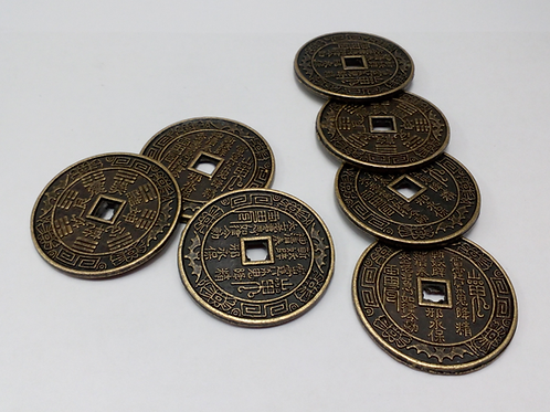 Good Luck Chinese Coins - 7 piece coin set