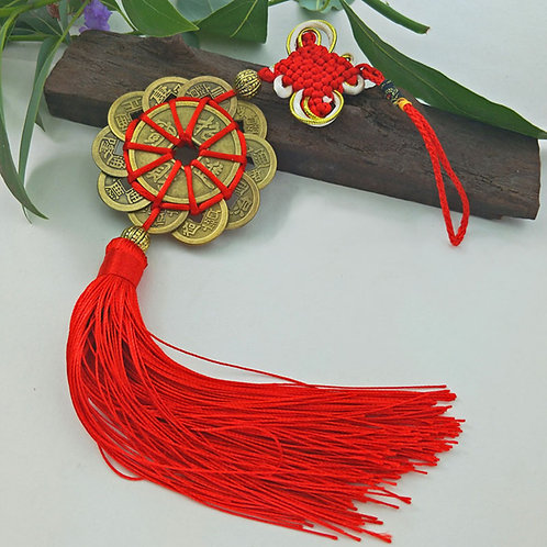 Lucky Chinese Old Copper Money Coin Tassel.