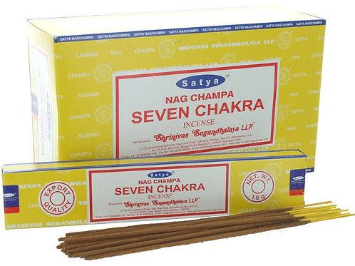 Satya Incense Sticks - Nag Champa Seven Chakra 15gm