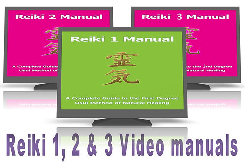 50% OFF - Reiki 1, 2 & 3 video manuals