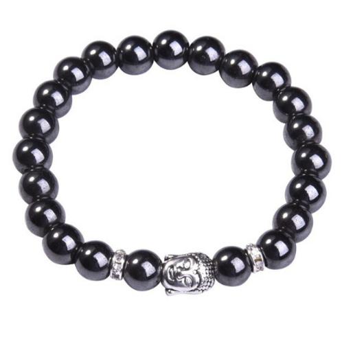 Magnetite Crystal Buddha bracelet