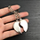 Thumbnail: 1 Pair of Couples Heart shaped keyrings - Magnetic