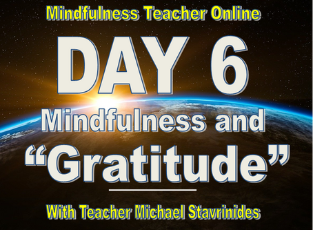 """Mindfulness & Gratitude""  With Teacher Michael Stavrinides."