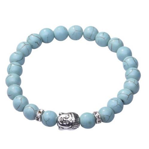 Turquoise Crystal Buddha bracelet